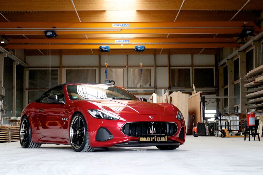 Italian carmaker Maserati gave its GranTurismo and GranCabrio an extensive facelift two years ago. Both cars won much in terms of visual appeal, but the smallish wheels spoiled the impression a bit. This is where Mariani Car Styling comes in with a solution.