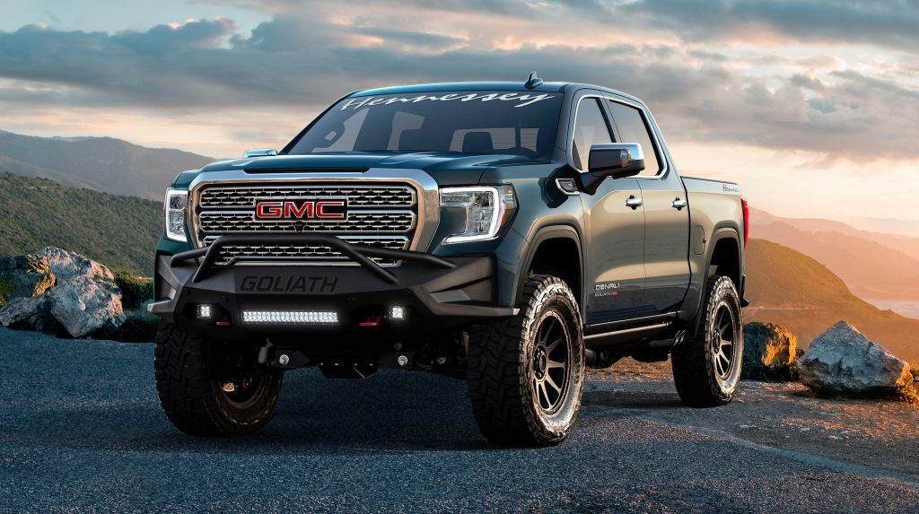 Remember the three-axled Chevrolet Silverado 6×6 Goliath by Hennessey Performance? The tuner just launched a similar-looking body kit for the GMC Sierra and Chevrolet Silverado trucks.