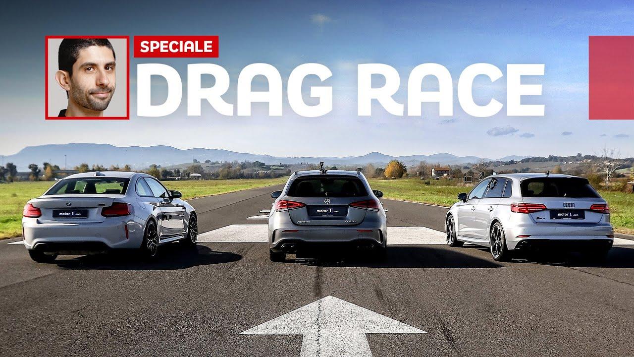 Не так давно подразделение Mercedes-AMG представило хот-хэтч A45 S, а теперь итальянские журналисты выставили против новинки её главных соперников от Audi и BMW.