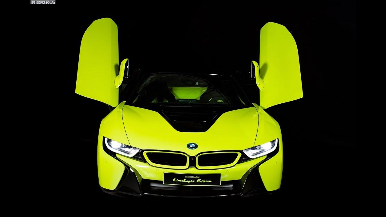Итальянское подразделение компании BMW и компания Alcantara S.p.A. показали в Милане особую версию родстера i8 под названием LimeLight Edition. Новинка получилась очень яркой – в буквальном смысле.