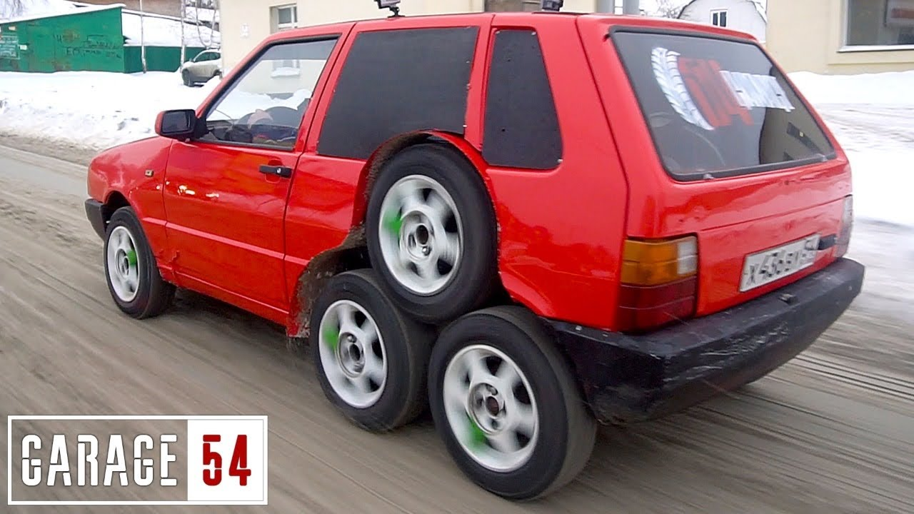 The wacky car tuner from Novosibirsk, Russia, has uploaded a new video to its YouTube channel showing its latest creation – a Fiat Uno mutant sporting six wheels on the rear axle.