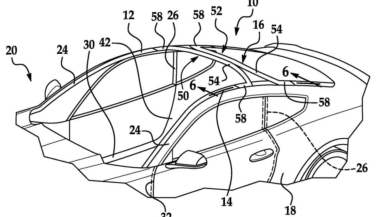 The U.S. automotive giant has patented an original car roof design that involves curved beams and an enormous windshield, which should improve both the insolation of the cabin and the field of view.