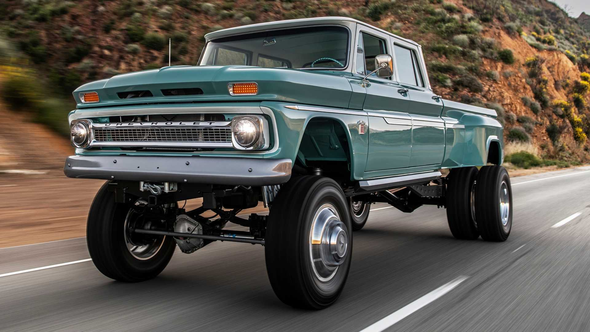 Famous comedian and car aficionado Jay Leno has uploaded a YouTube video dedicated to the two restored Chevrolet trucks: a 1966 Ponderosa and a 1972 Duke.