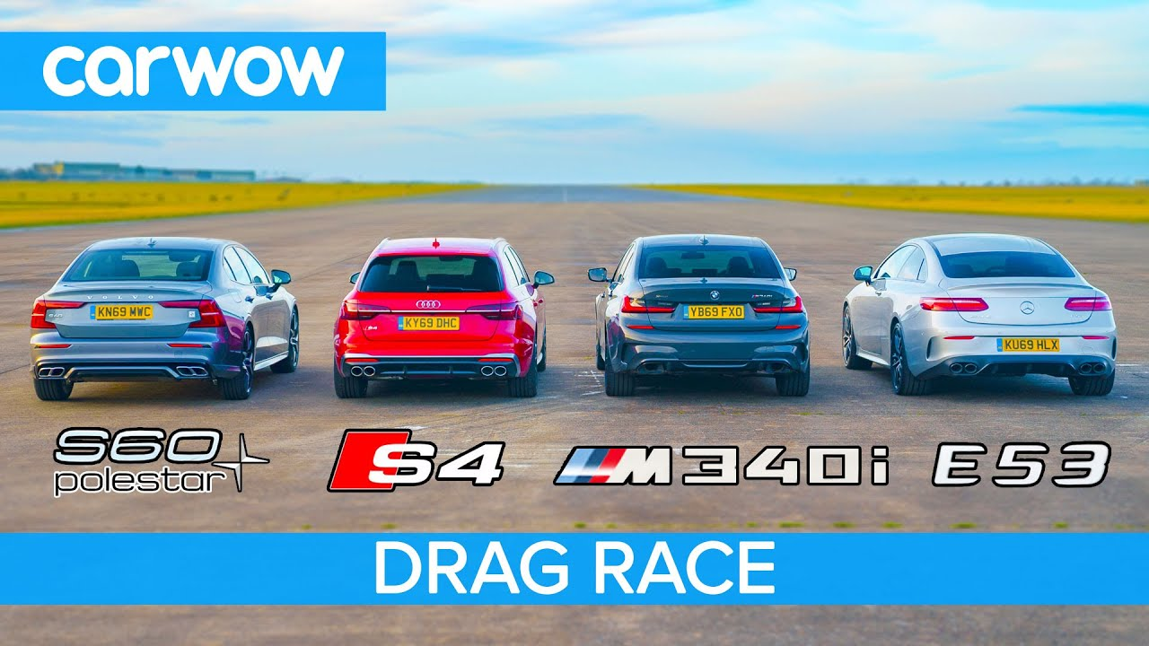 The indefatigable British team CarWOW never fails to surprise us with fresh ideas for drag strip action. This time around, it came up with a four-car showdown where little spec comparison could be made between any two entries.