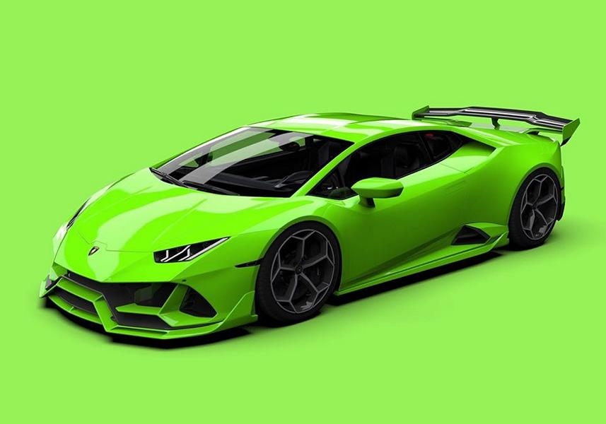 U.S.-based tuner Vorsteiner is working on an aerodynamic kit for the Lamborghini Huracán Evo, as evidenced by these 3D renderings and the video.