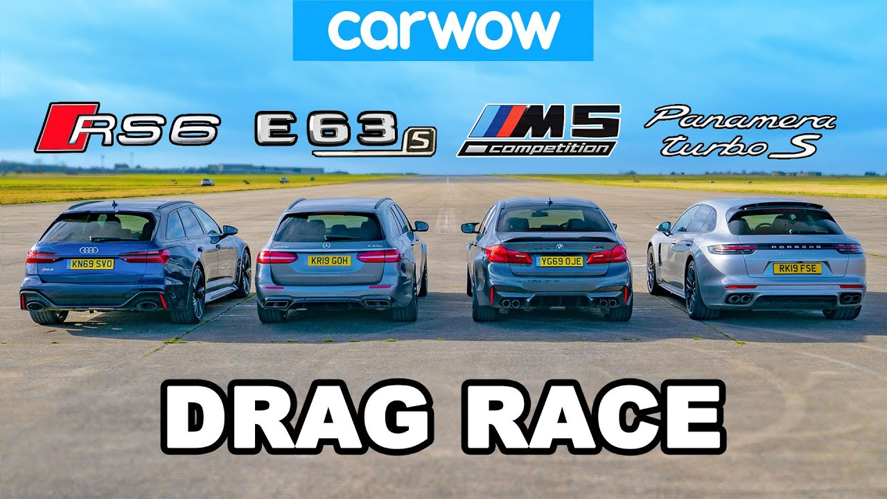 Watch the latest video brought to you by the CarWOW team, where an Audi RS6 Avant, a Mercedes-AMG E 63 S Estate, and a Porsche Panamera Turbo S E-Hybrid Sport Turismo go up against a BMW M5 Competition.