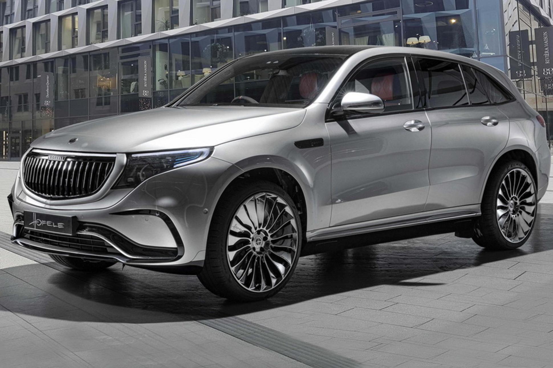 Немецкое ателье Hofele Design показало проект HEQC на базе Mercedes-Benz EQC: электрокроссовер оформили по образцу роскошных автомобилей Maybach.