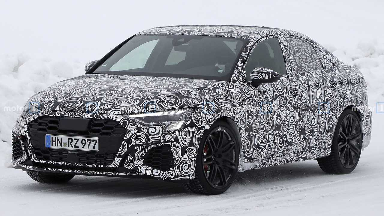 The hatchback version of the new Audi A3 has already debuted (watch the video if you missed it), but the sedan version is still running road tests, as does the range-topping RS 3.