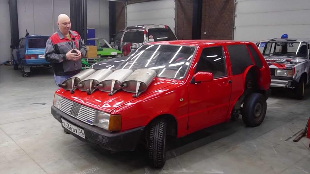 Still remember the insane four-axle, eight-wheel Fiat Uno monstrosity built by Garage 54? It may have been a pain to drive, but the looks on the faces of passers-by and other drivers were well worth it. Now, it appears Garage 54 has played with it a bit more.