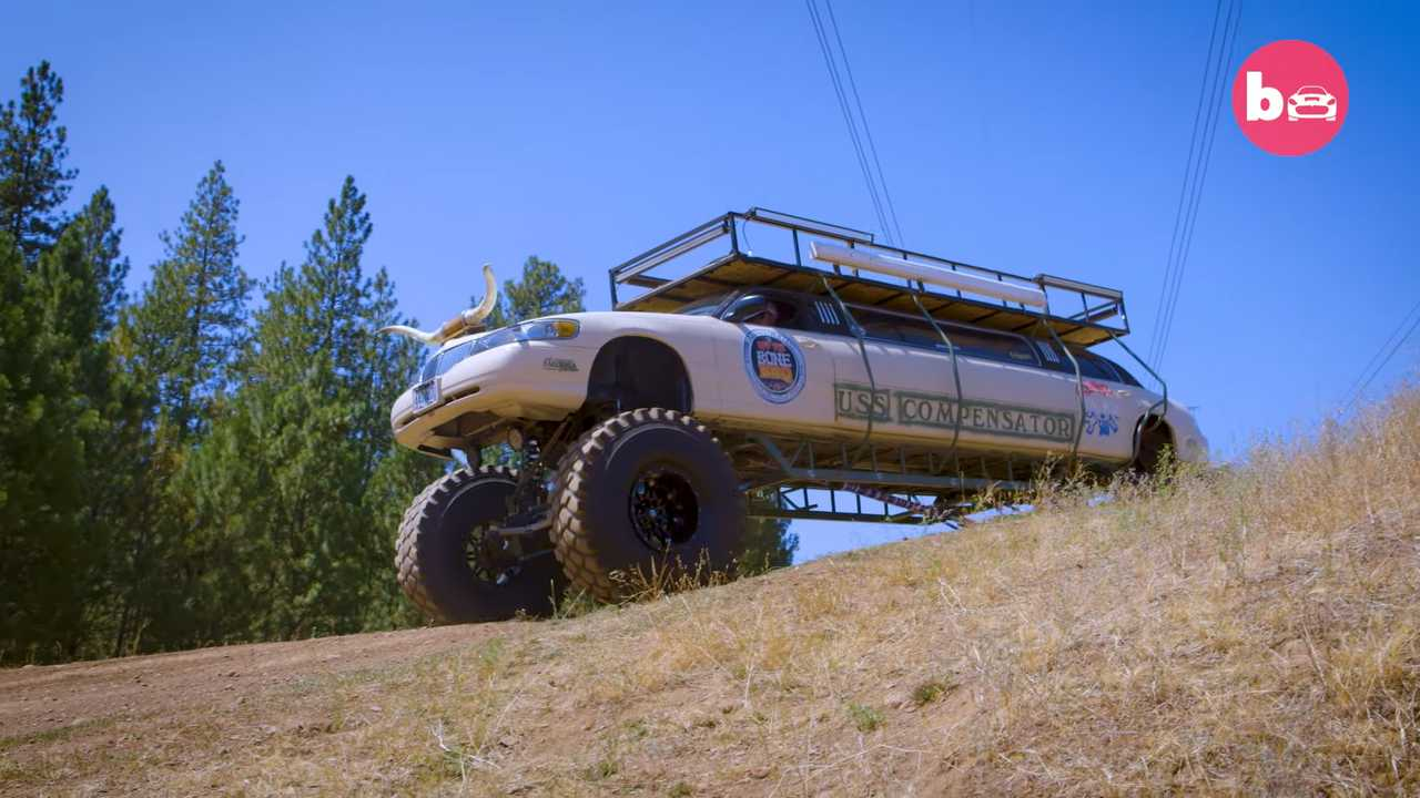 While monster trucks may be popular in the United States, most are built on pickup or SUV chassis. Jordon Foster, from Oregon, saw things differently when he created his off-road limo from a Lincoln Town Car.