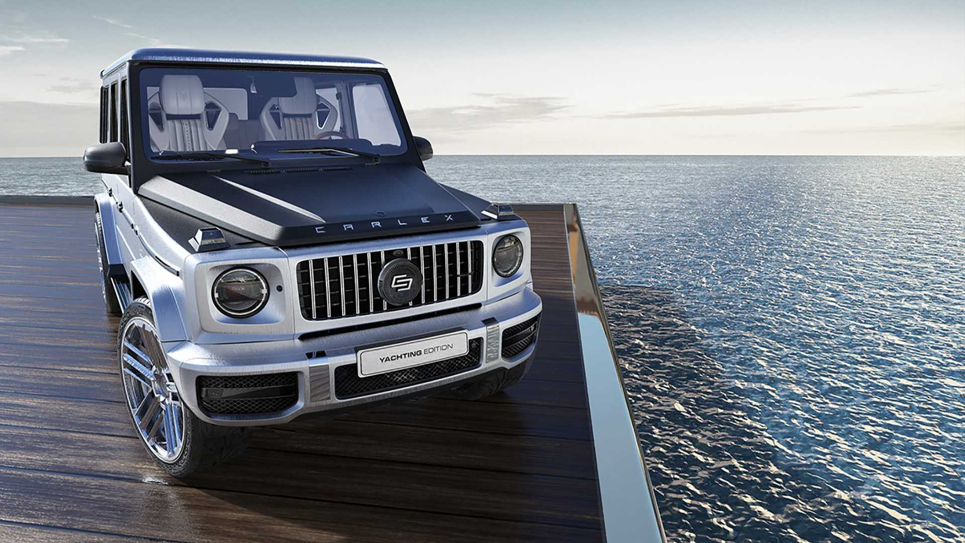 Just a couple months ago, Carlex Design unveiled the magnificent wood-and-copper-trimmed Mercedes-Benz G-Class Steampunk Edition (watch the video if you missed it). Today, the luxury interior design firm rolled out another unique SUV, stylized to resemble the finest of marine yachts.