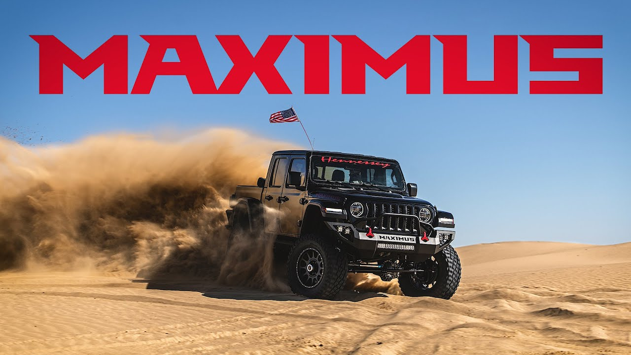 The famous Texan tuner unveiled its Jeep Gladiator Maximus project in May 2019; today, the team showed us just how well the crazy truck rides the sands.
