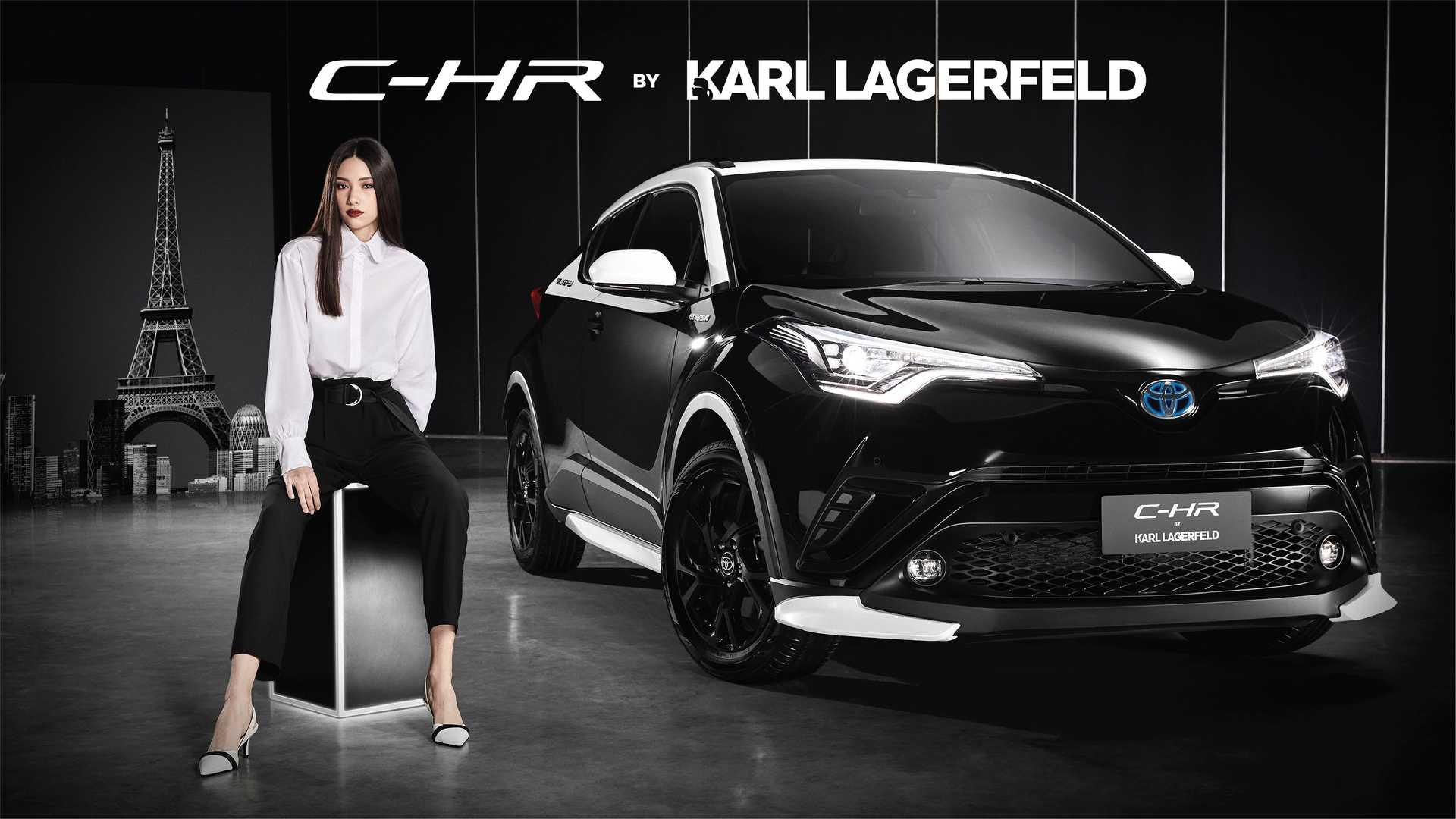 Отделение Toyota Motor Thailand раскрыло особое исполнение компактного кроссовера C-HR, разработанное совместно с модным домом Карла Лагерфельда.
