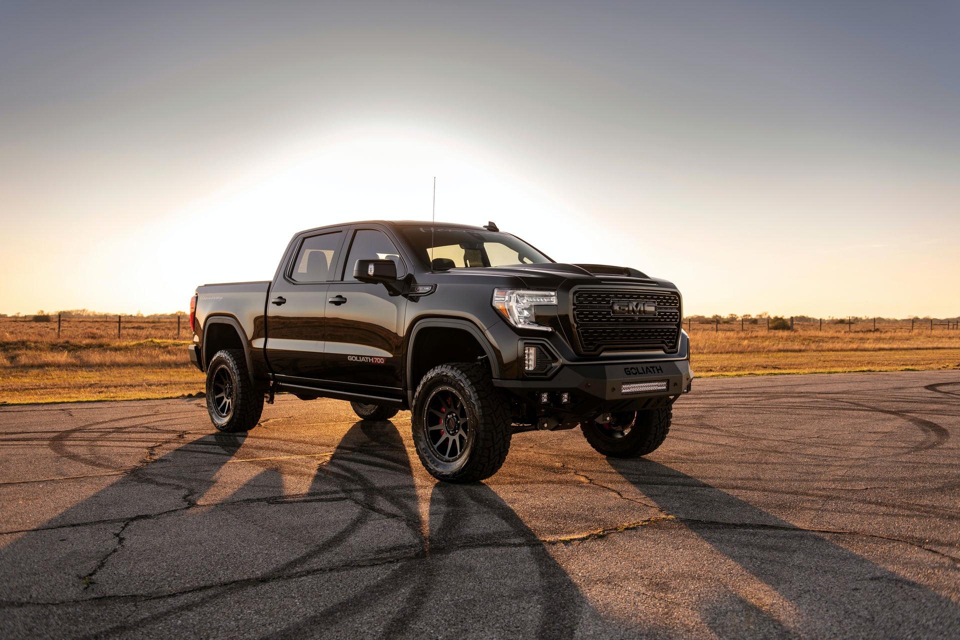 Безумный Hennessey Goliath 700 Supercharged на основе GMC Sierra анонсирован несколько месяцев назад, а теперь стартовало его производство.