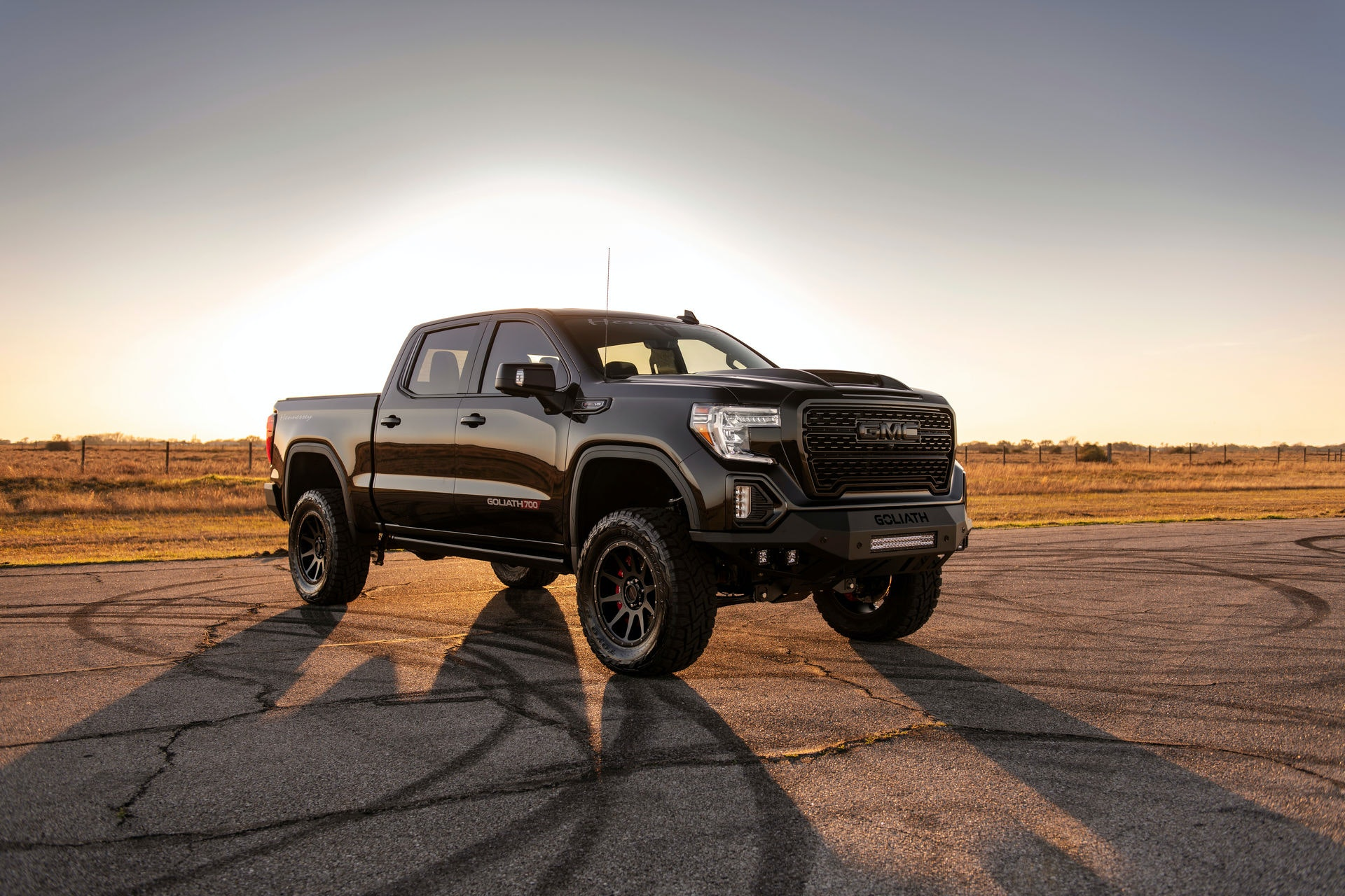 Following the reveal of the insane Goliath 700 Supercharged truck based on the GMC Sierra platform several months ago, Hennessey finally started shipping its constituent components.