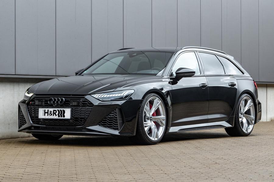 Универсал Audi RS6 Avant (C8) и в заводском исполнении спортивнее некуда, но инженеры из H&R всё же нашли, что в нём тюнинговать: клиренс!