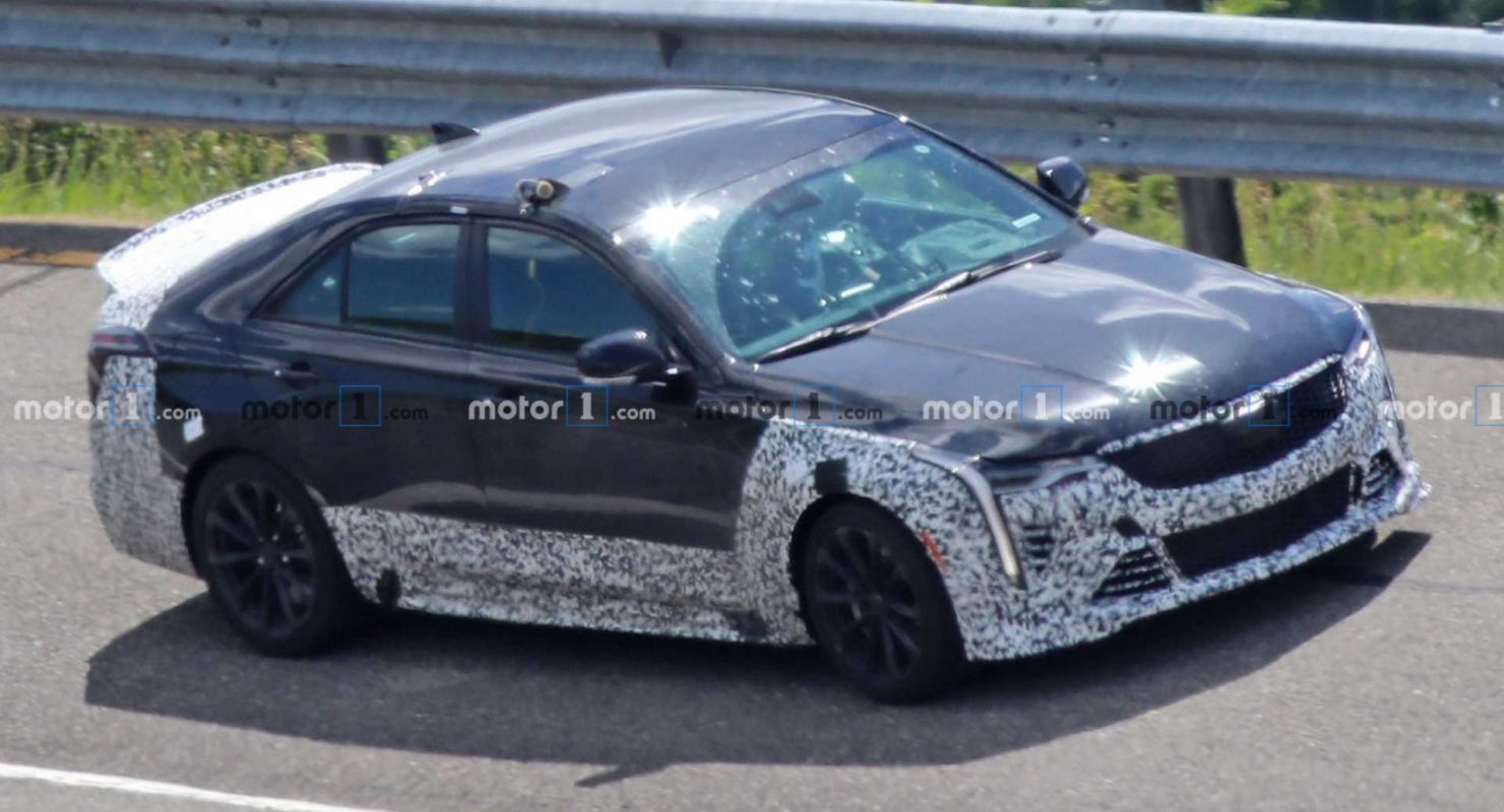 U.S.-based luxury carmaker Cadillac is preparing Blackwing editions of its CT4-V and CT5, complete with forced engines and manual transmissions. The smaller CT4-V has just been sighted on a test track in Michigan.