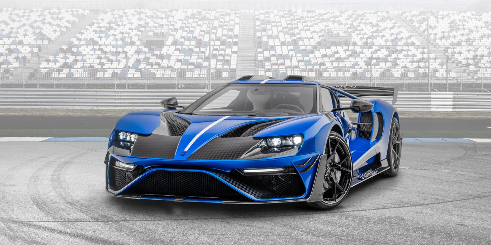 """Mansory has announced the production of three """"Le Mansory"""" Ford GTs with all-carbon bodies, boosted engines and tuned exhaust systems. The cars are very lightweight and trimmed to their owner's specification."""