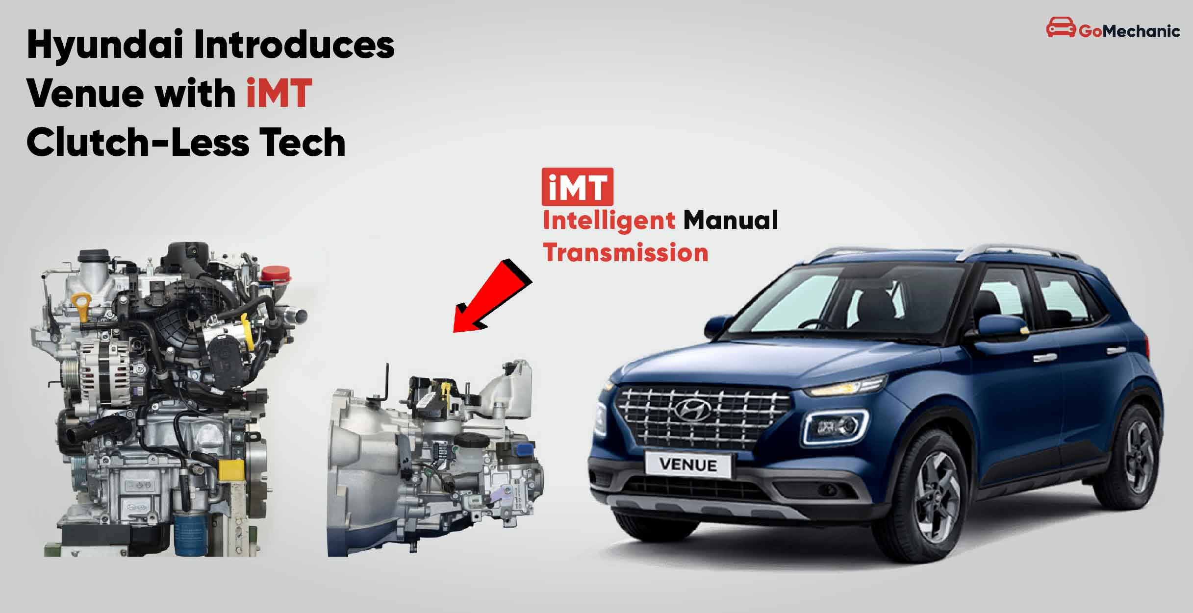 The Korean automotive giant will be offering a new gear-shifting option called iMT for its Venue SUV scheduled for launch in India later this month. The gearbox is said to combine the advantages of automatic and manual approaches to switching.