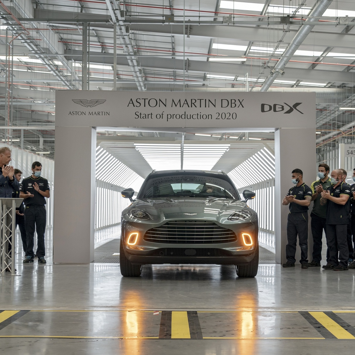 Motoring: Aston Martin's first SUV rolls off production line
