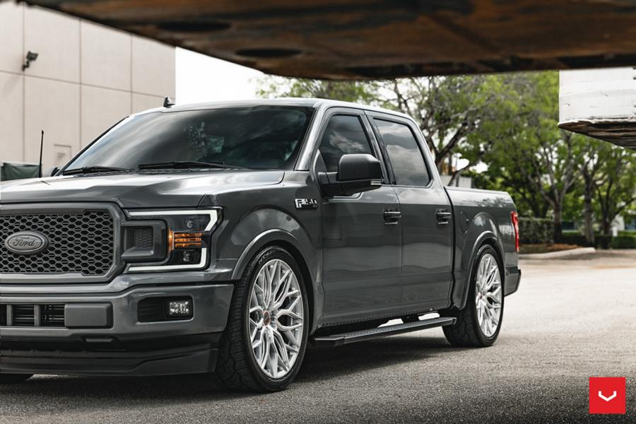 """When full-size pickups like the Ford F-150 wind up with modded suspension, ninety percent of the time it is a lift kit of one sort or another. As Miami-based tuner """"dv8dz9"""" aptly demonstrates, lowering it is also a valid option."""