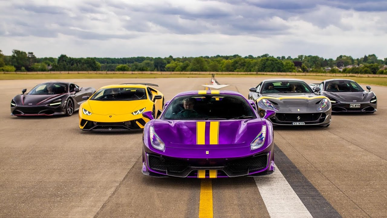 London-based car vlogging team 888MF has arranged a drag race among multiple supercars, hitting the road with 3,500+ hp and $1,000,000+ worth of luxury vehicles.