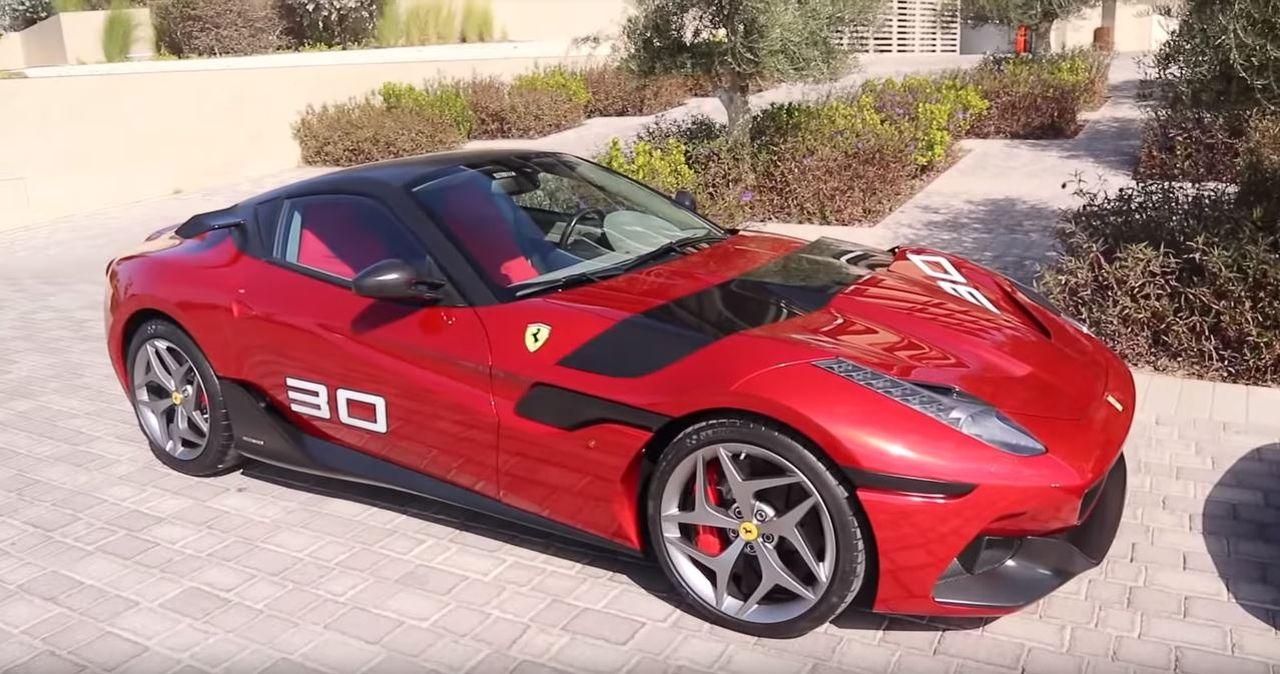 Eight years ago, Ferrari put together a bespoke SP30 sports coupe for Cheerag Arya, a businessman from Dubai, UAE. The car has 165 km (102 miles) under its belt and uses the 599 GTO chassis despite looking more like 812 Superfast or F12 Berlinetta.