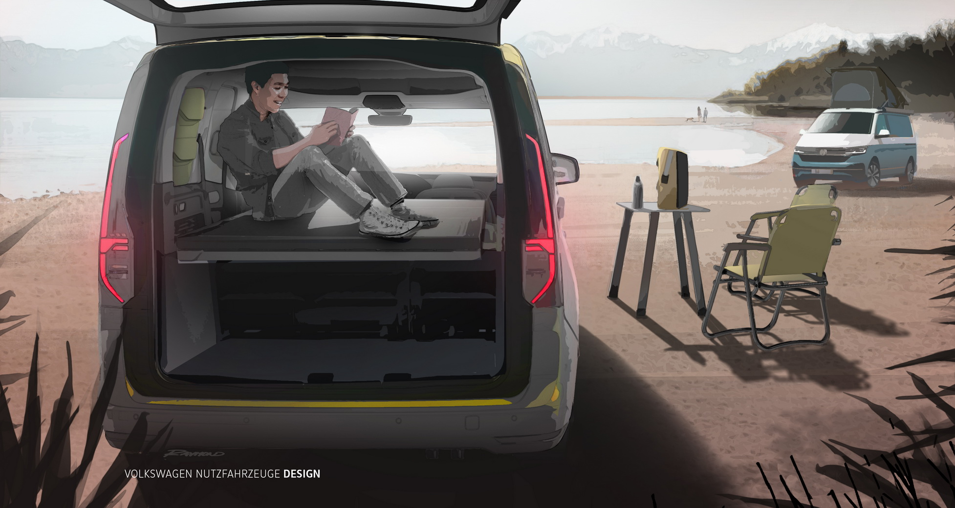 Volkswagen has announced the Mini-Camper version of its Caddy van. The car seems to pack everything to cover your basic needs during long road trips, including a two-meter bed.