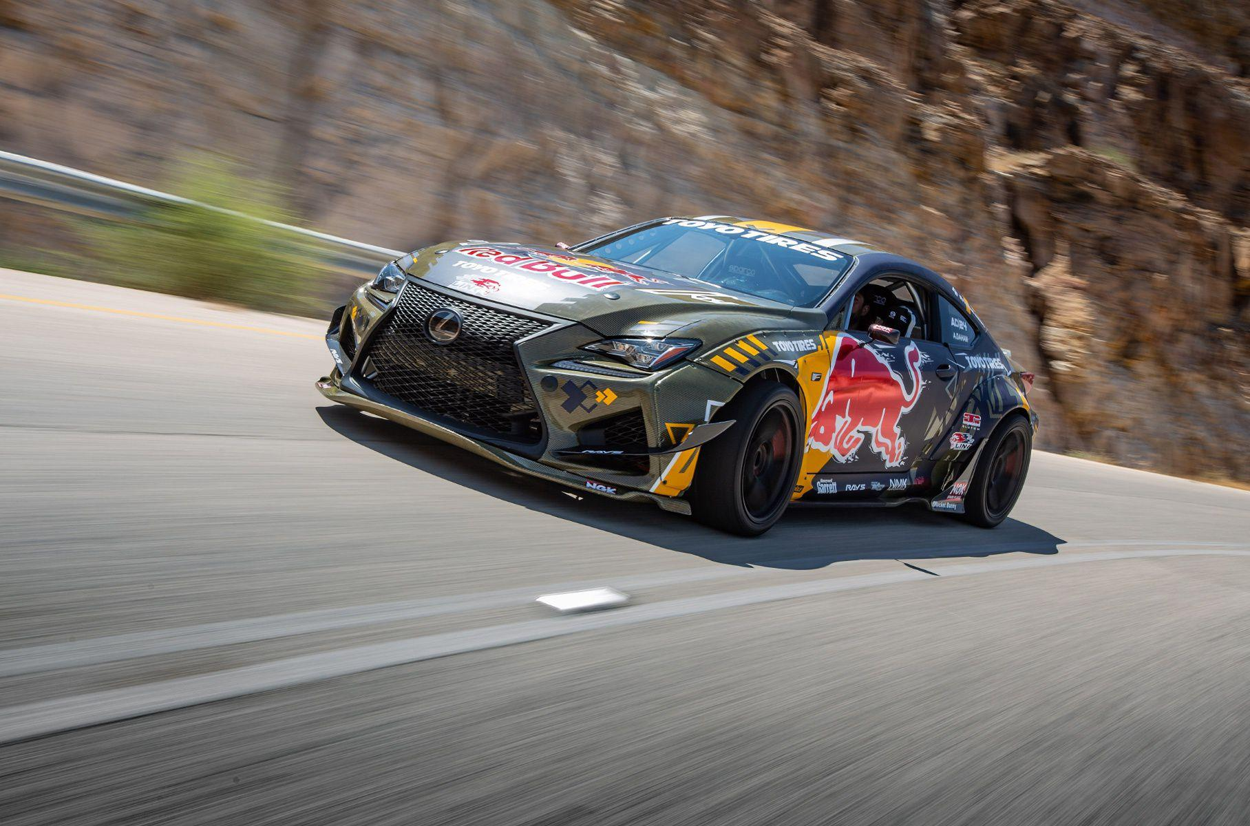 The Al-Futtaim Lexus showroom in the United Arab Emirates has built a unique and powerful drift car on the RC F chassis. Ahmad Daham, the most famous professional drifter in the Middle East, helped create the vehicle which is now up for grabs.