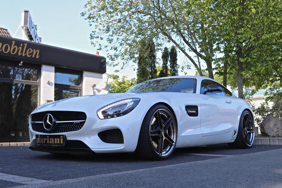 """Soon after premiering the 462-hp AMG GT sports car, Mercedes unveiled its ultimate """"R"""" version. The latter had 585 hp under the hood and came at an eye-watering €50,000 premium over the base model. Lucky for us, tuners like Mariani have their own ways of making things work without as much expenditure."""