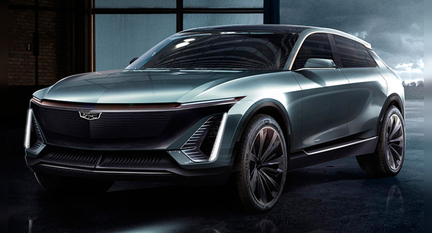 Cadillac has shared the latest teaser pics of its impending all-electric SUV, the Lyriq. One of these reveals what appears to be a large charging port concealed in the front left wheel arch behind a sliding door.