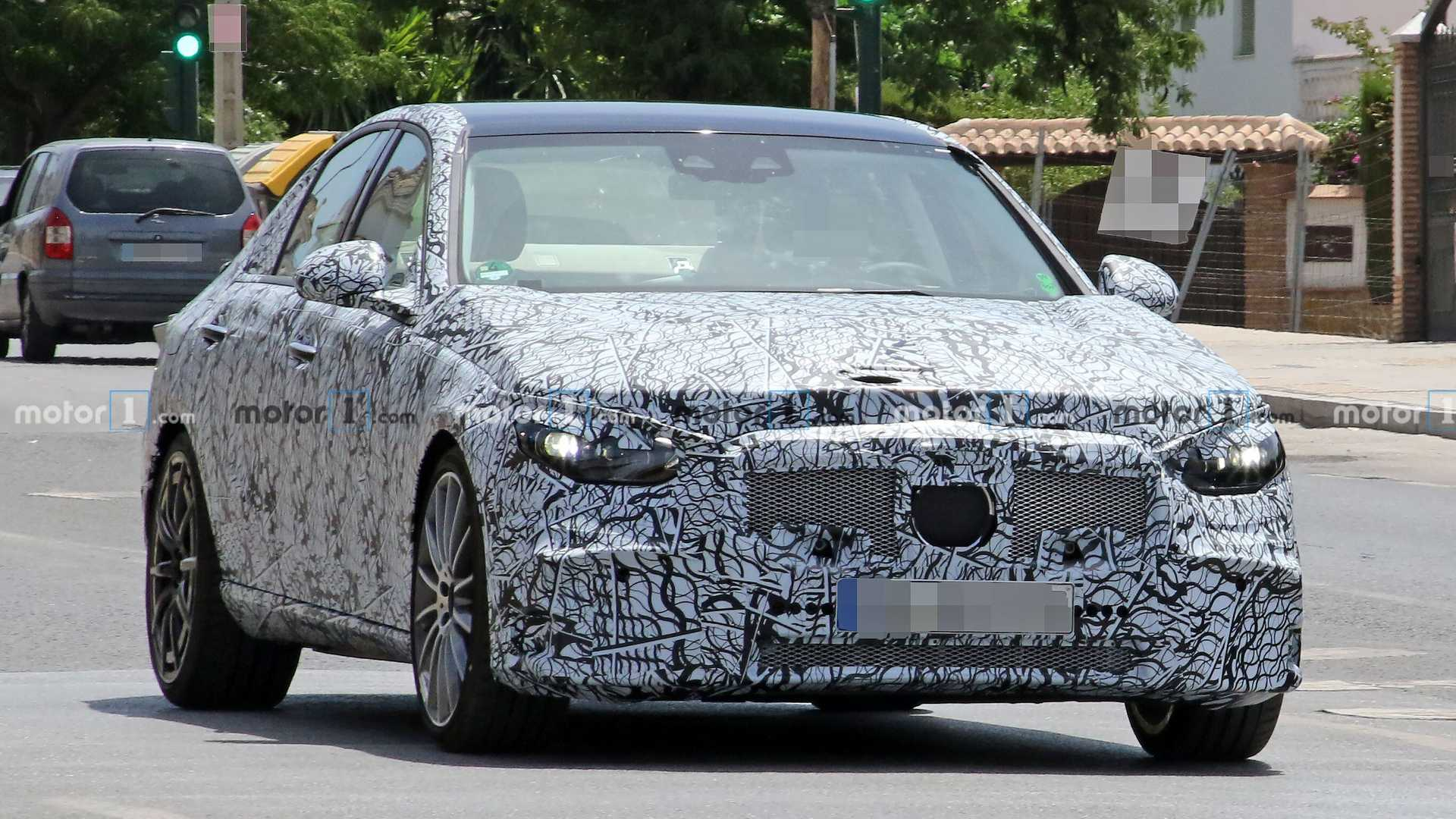 The Mercedes C-Class is due an update soon, and pre-production testing is well underway, as evidenced by these spy shots.