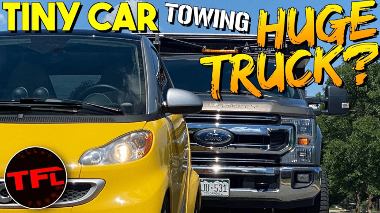 A video has recently gone viral that shows a 3rd-gen Smart EV hauling three pickup trucks at once via a rope. Chevrolet, Jeep and Ford specialists have participated in the experiment.