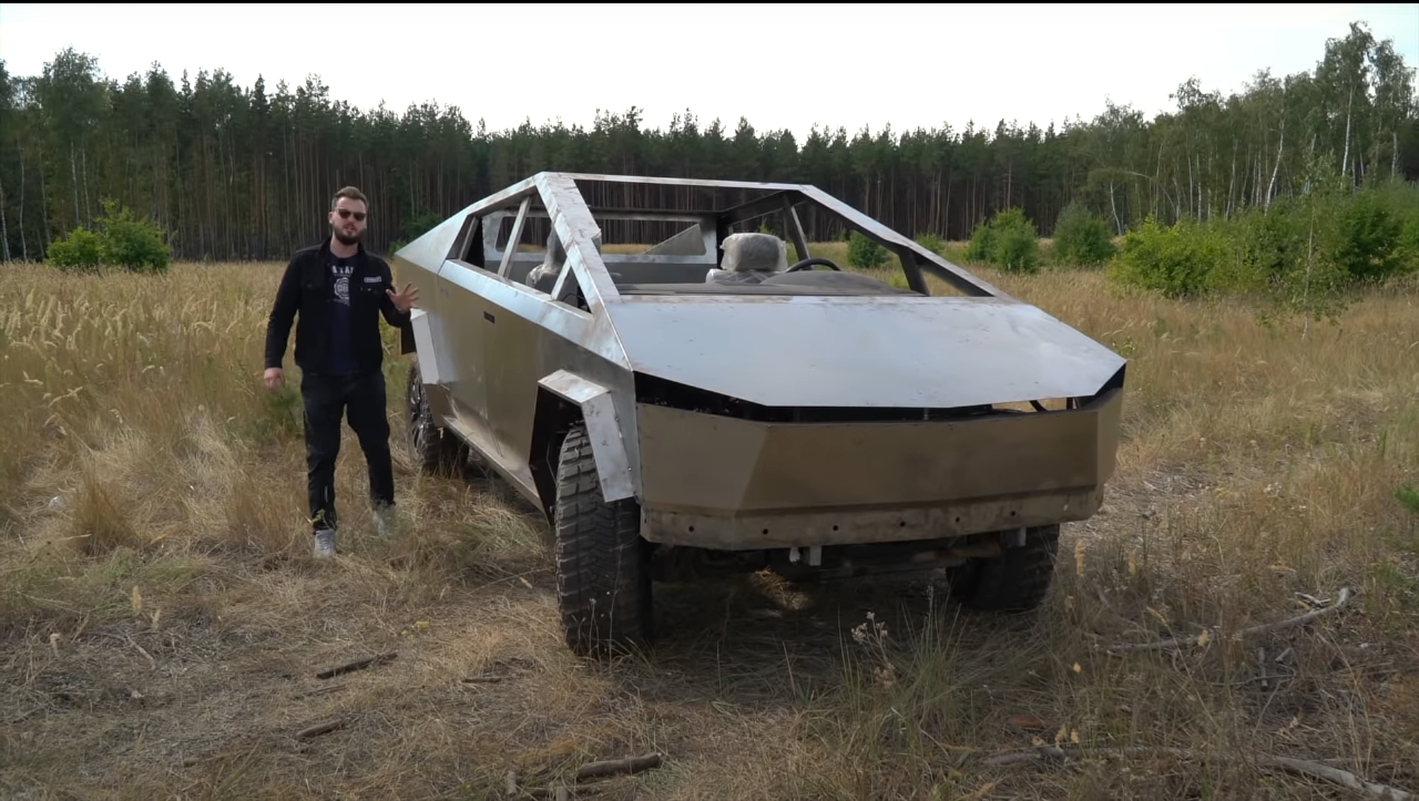 Wylsacom, a vlogger known in Russia as Valentin Petukhov, has shared footage from the drive tests of a Tesla Cybertruck replica on a variety of countryside and forest dirt roads.