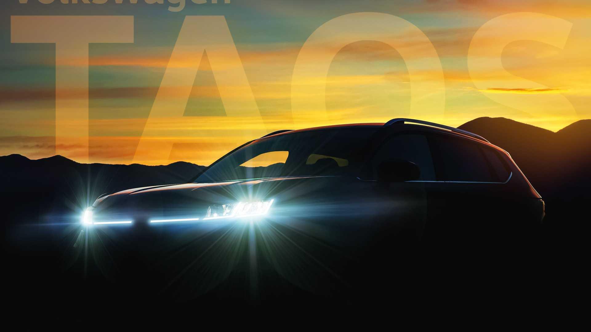 Американское подразделение «Фольксваген» анонсировало выход нового кросса для США под названием Taos, который встанет на ступеньку ниже «Тигуана».  Его премьера состоится 13 октября.