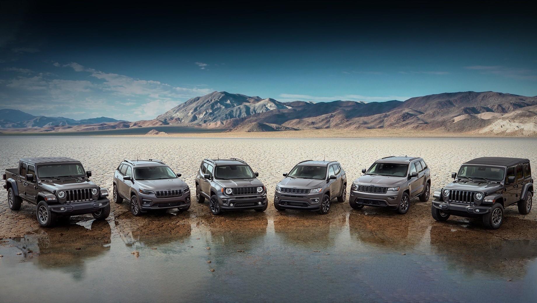 В следующем году бренд Jeep отметит 80-летие. Этому событию посвящено издание 80th Anniversary Edition, анонсированное для всех моделей фирмы.