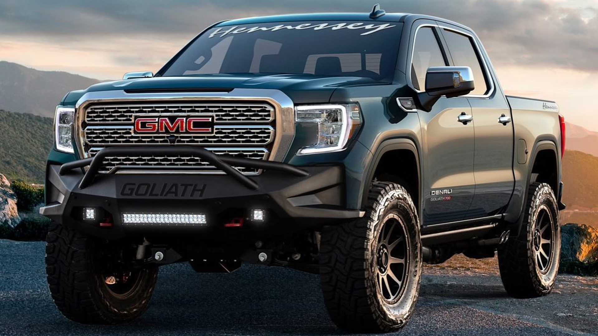 Некоторое время назад мастерская Hennessey Performance выпустила комплексную программу доработки родственных пикапов Chevrolet Silverado и GMC Sierra под названием Goliath, а теперь наглядно продемонстрировала, на что способен «грузовик на стероидах».