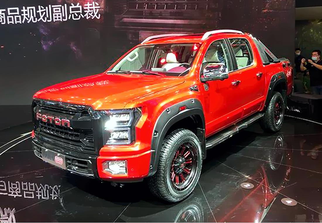 Chinese automaker Foton had promised us two Auto China premieres, but only showed one car in the end. Meet the Foton General, an author's rendition of the Ford F-150, minus the license.