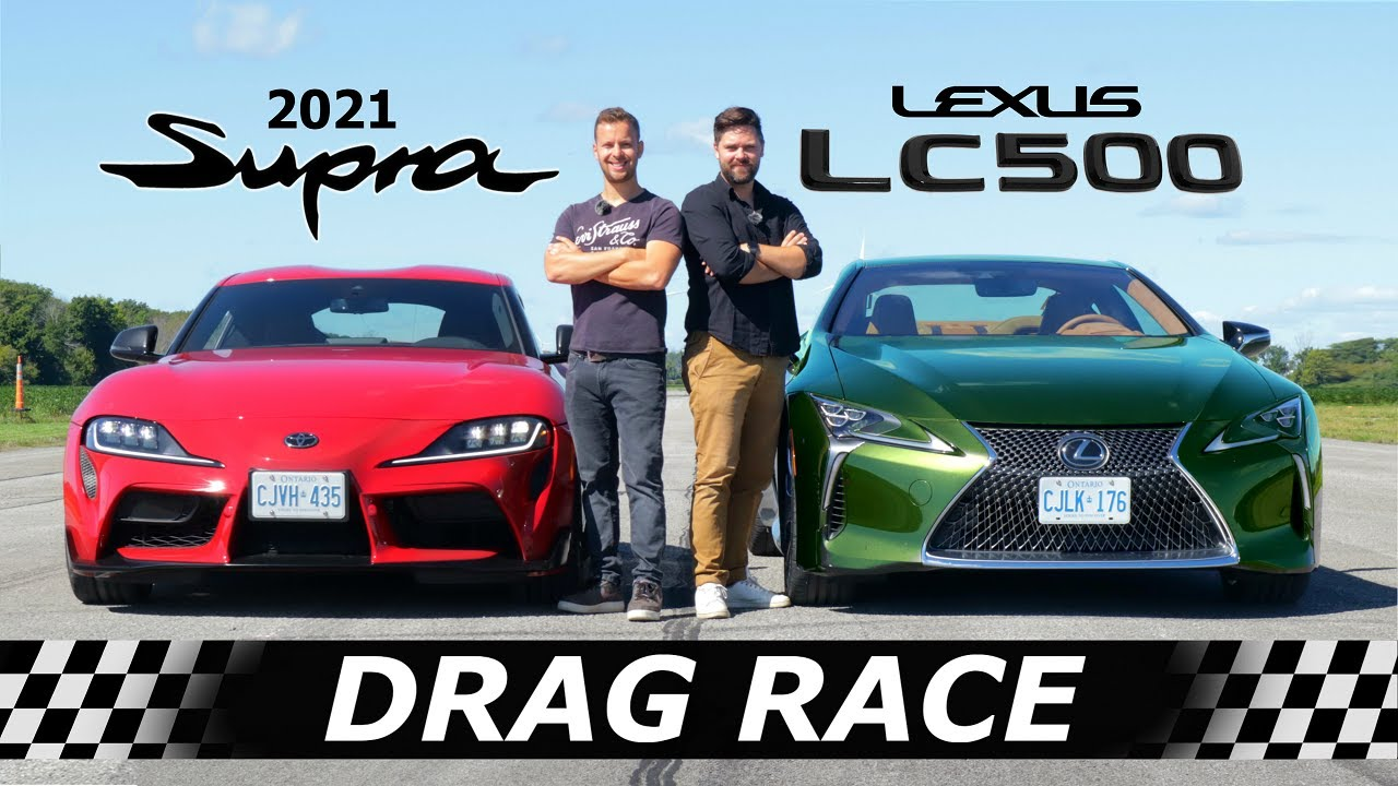 YouTube channel Throttle House has arranged a drag race between two Toyota vehicles: the new A90 Supra and the Lexus LC500. Hit Play or read on for spoilers.