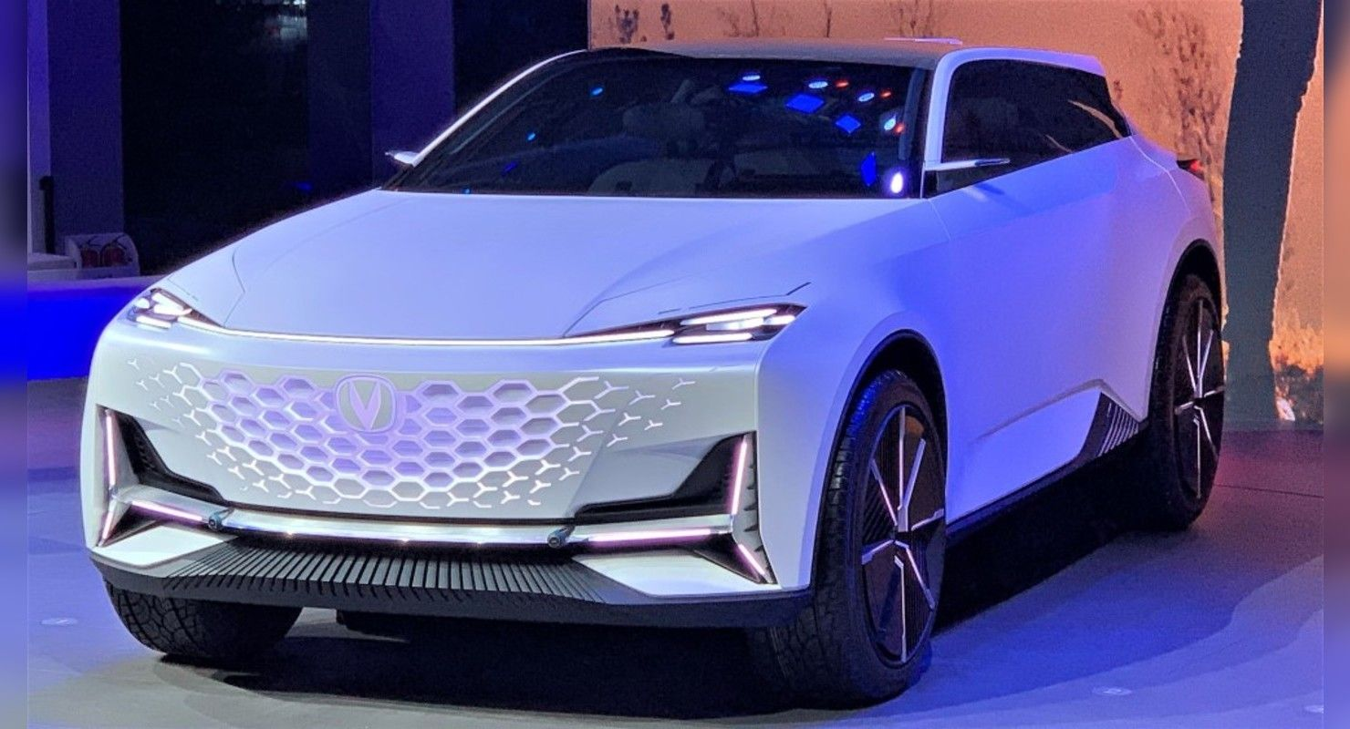 Carmaker Changan has unveiled the Vision-V, its second show car from the series named Uni ('Gravity'). The first concept was called Uni-T (see video), and it has since evolved into a production car that's already on sale.