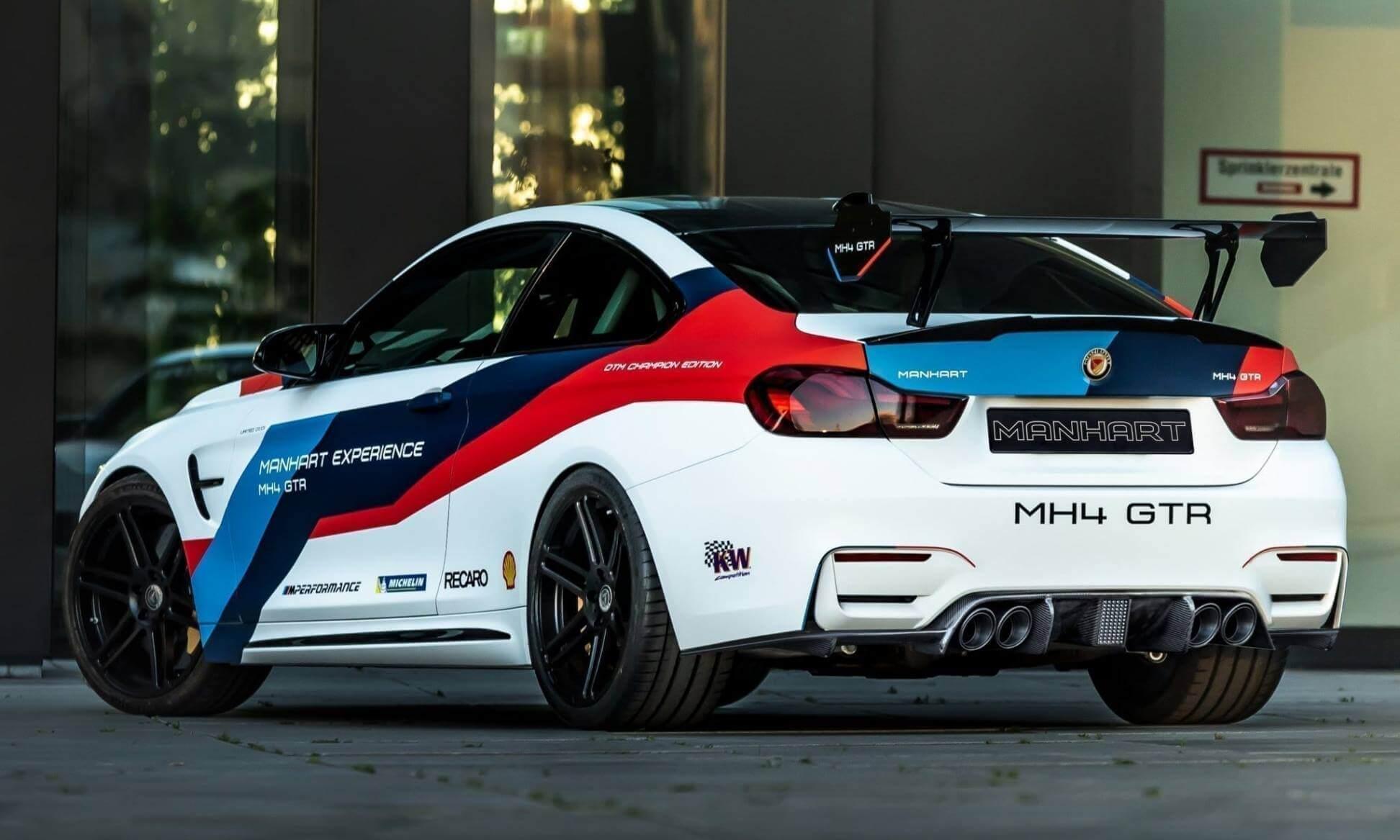 Тюнинг-ателье Manhart представило трековое купе MH4 GTR: проект создан на базе BMW M4 DTM Champion Edition, восходящей к M4 GTS.