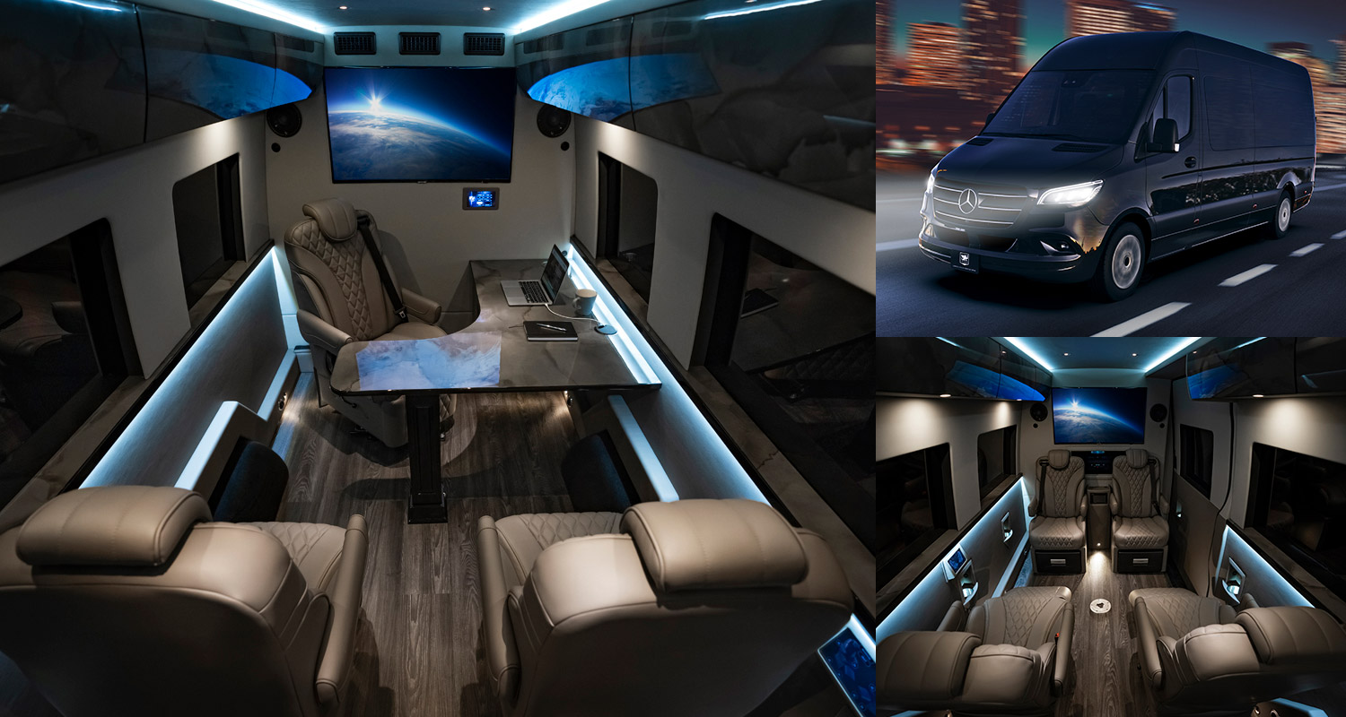 Canada-based automotive company Inkas is predominantly known for its armored cars and assorted security solutions, but its latest project goes for something altogether different. Meet the Inkas VIP Mobile Office, a luxury-laden study running on Mercedes-Benz Sprinter chassis.