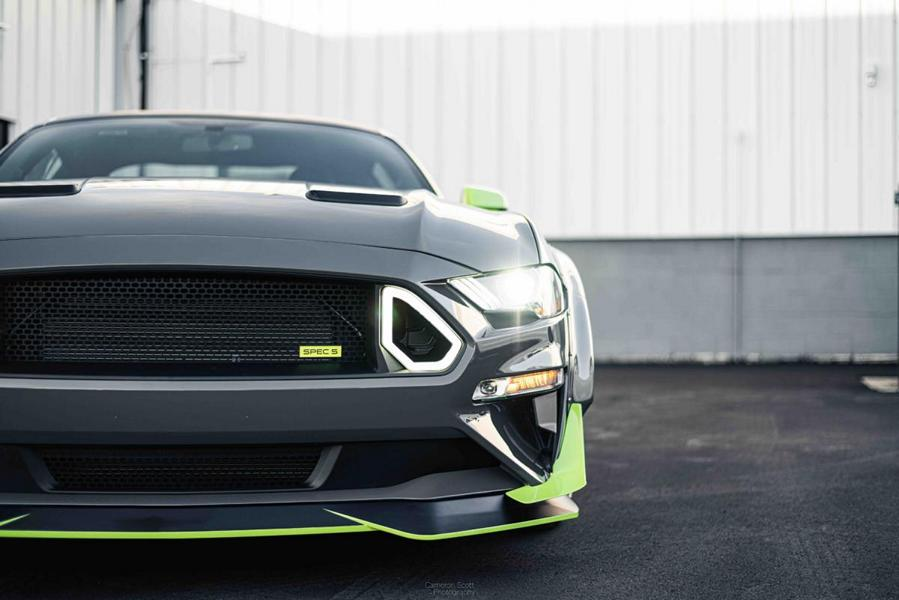 Vaughn Gittin-Jr., a well-known U.S.-born racing and stunt driver, founded the tuning shop named RTR ten years ago. This week, the company rolled out an extreme Mustang build capable of holding its own even against the formidable Shelby GT500.