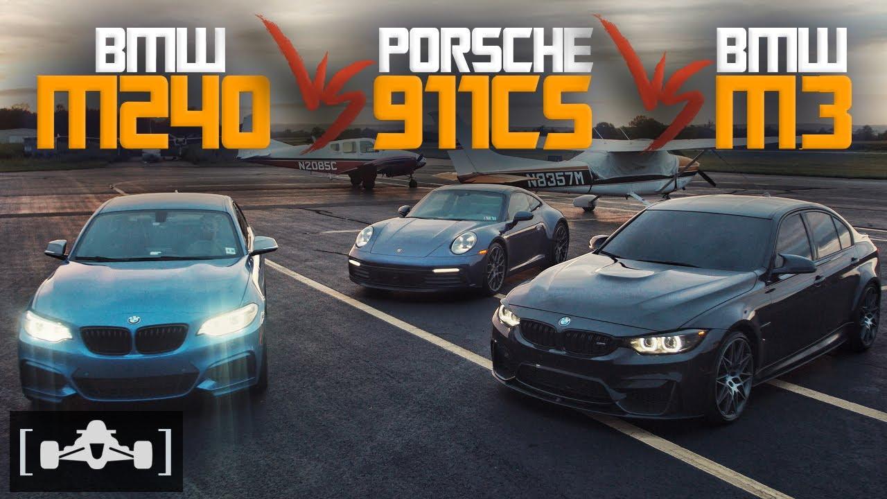 Может ли бюджетное купе BMW M240i противостоять на треке длиной в полмили такому чистопородному спорткару, как Porsche 911 Carrera S? Конечно, нет! А с тюнингом? Звучит маловероятно, но давайте на это поглядим.