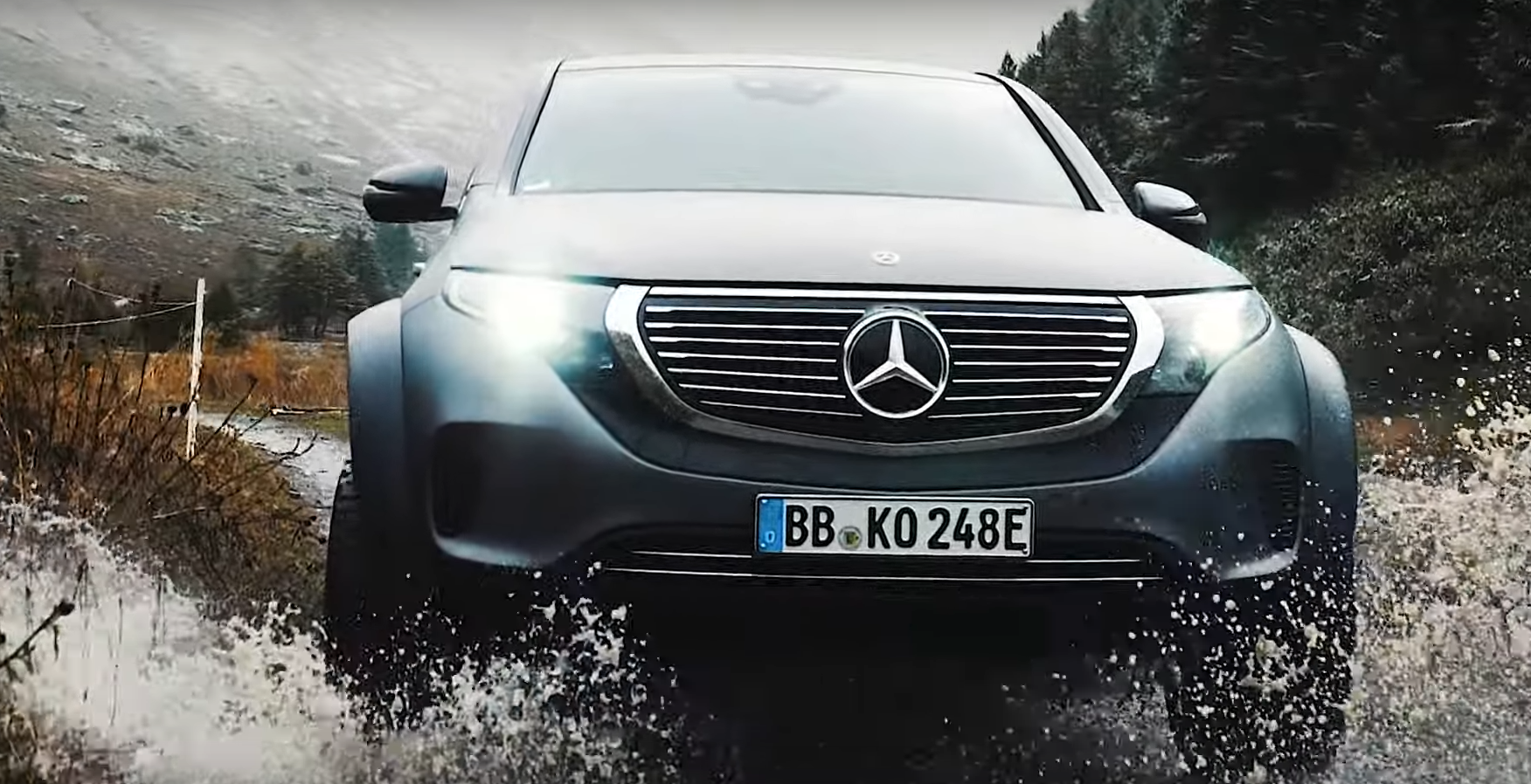 Mercedes has shared the latest video from the driving tests of its conceptual EQC 4x4² SUV on a picturesque serpentine mountain road in Italy.