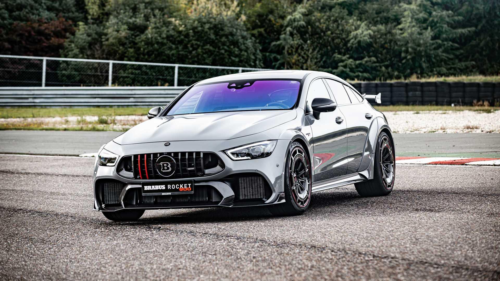 Немецкий тюнер Brabus представил проект Rocket 900 на основе Mercedes-AMG GT 63 S: выпустят всего лишь десять таких машин, а за первый экземпляр попросят 435 800 евро.