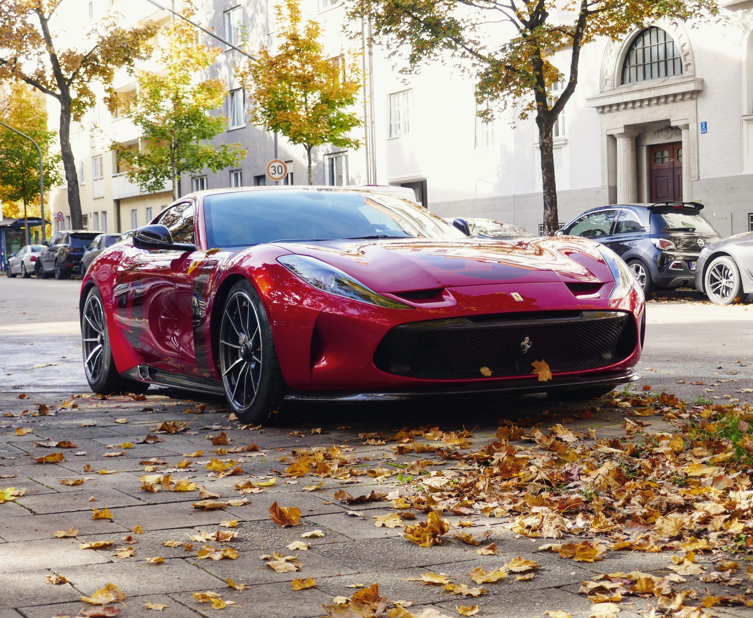 Ferrari only allowed us a brief glimpse of its unique Omologata supercar when it debuted a month ago, but this weekend, the exotic coupe unexpectedly popped up on a street in Munich, Germany.