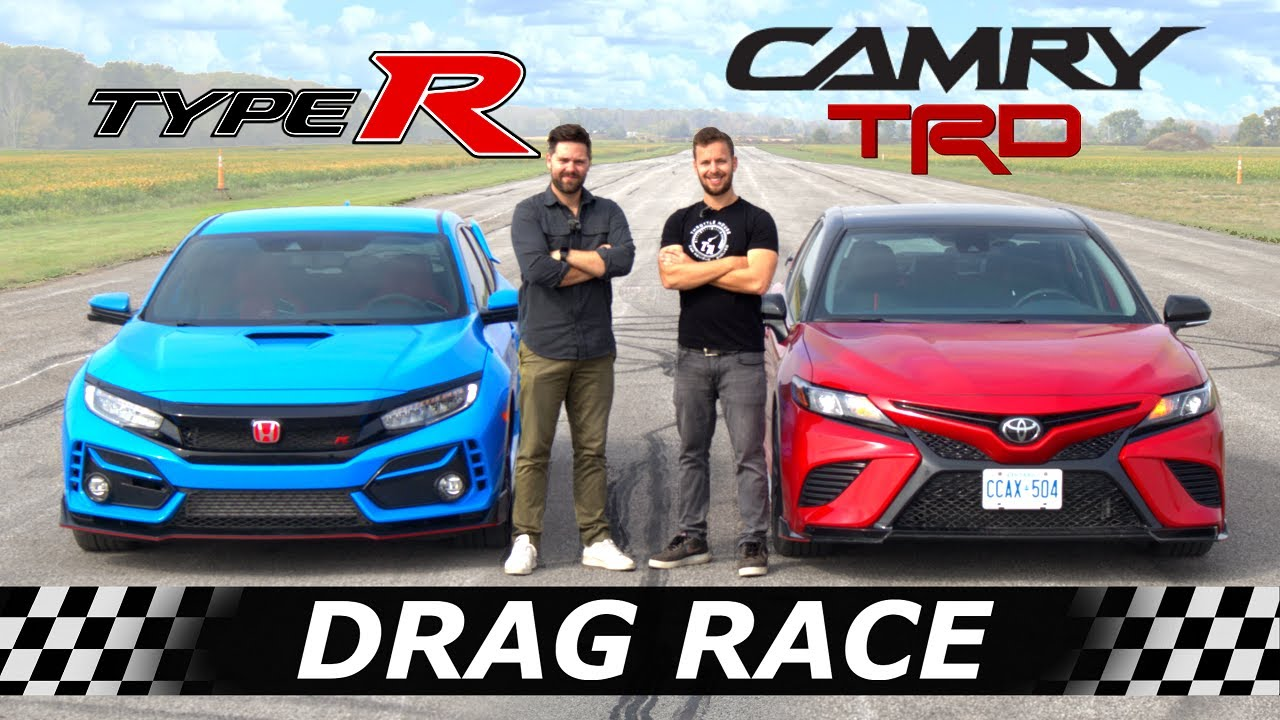 Throttle House has published an interesting video of a quarter-mile drag race between a Honda Accord, a Civic Type R, and a Toyota Camry TRD.