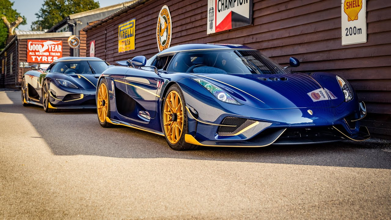 A Koenigsegg hypercar is an exceptionally rare sight as is; witnessing two of them next to each other is almost surreal, and if you consider that both sport genuine gold accents… Whoa!