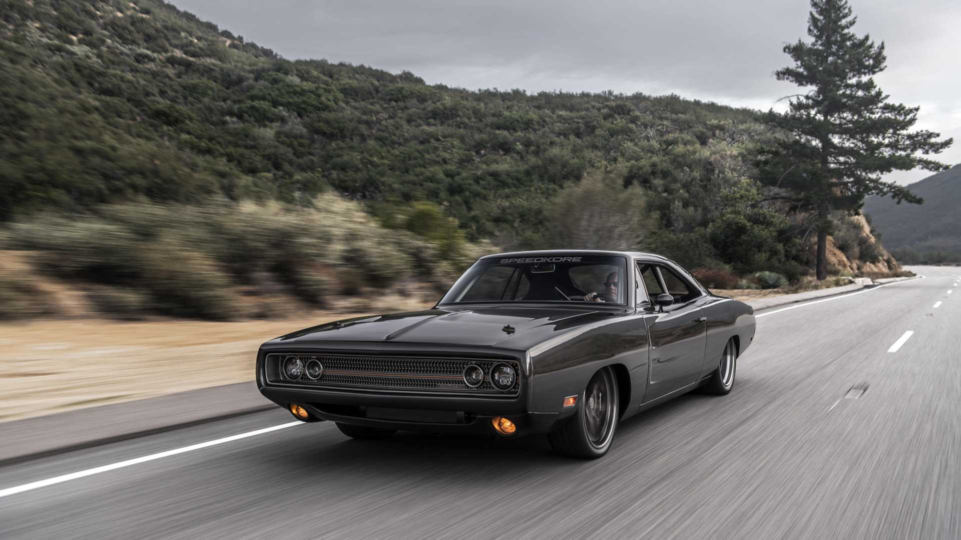 The Speedkore team took a fifty-year-old Dodge Charger and subtly turned it into a raging supercar slayer. The car may have the looks to show for it, but it harbors a seven-liter Hellephant engine underneath the retro disguise.